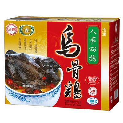 【冷凍店取-台糖】台糖人參四物烏骨雞(2.2kg/盒)