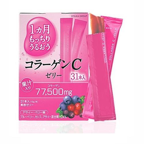 日本代購【大塚】膠原蛋白凍條(31入)-綜合莓果口味