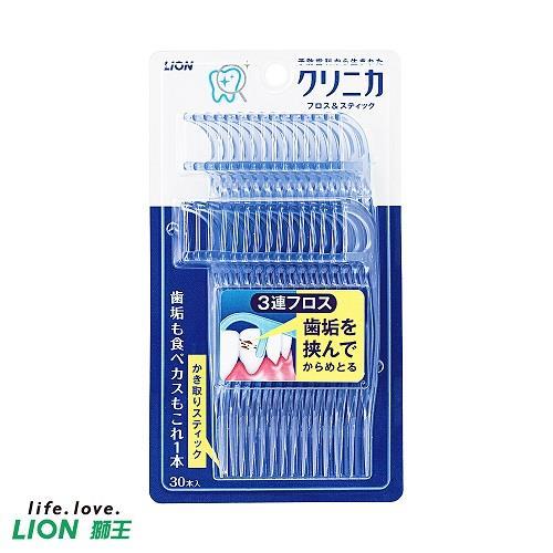 【日本獅王】3弦勁潔牙線棒(30入/組)