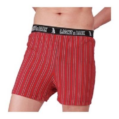 【LIGHT&DARK】白竹炭零觸感型男舒適平口褲(紅)