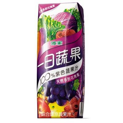 【波蜜】一日蔬果100%紫色蔬果汁(250ml-18入/箱)