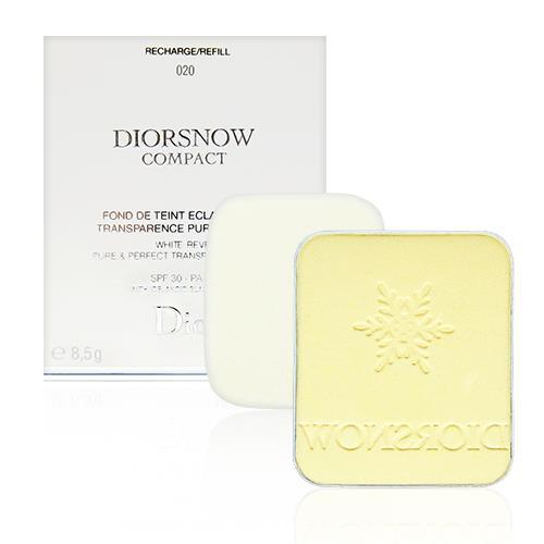 Dior 迪奧 雪晶靈極緻透白粉餅 粉蕊 8.5g 多色可選 本產品為補充蕊,不含粉盒,有附原廠粉撲一片 #010 #011 #020 [QEM-girl]