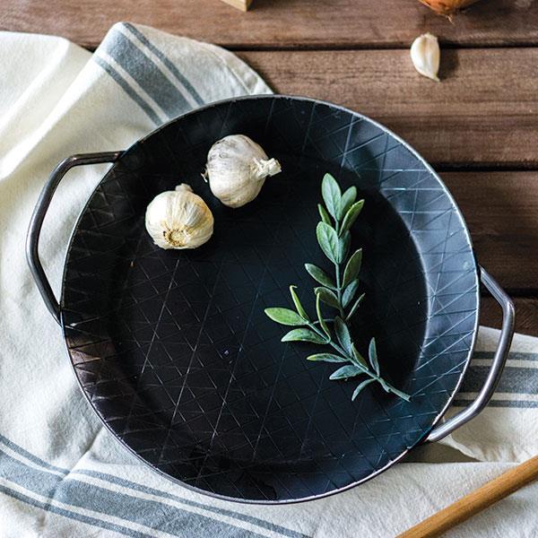 (送鍋墊、手套、鋼���)Turk 德國手工雙耳熱鍛造鐵鍋 / 煎鍋 20cm