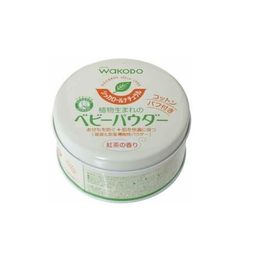日本代購【和光堂】寶寶爽身粉紅茶香味