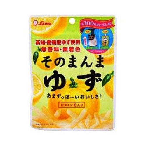 日本代購【ライオン菓子】柚子皮絲糖 x6入