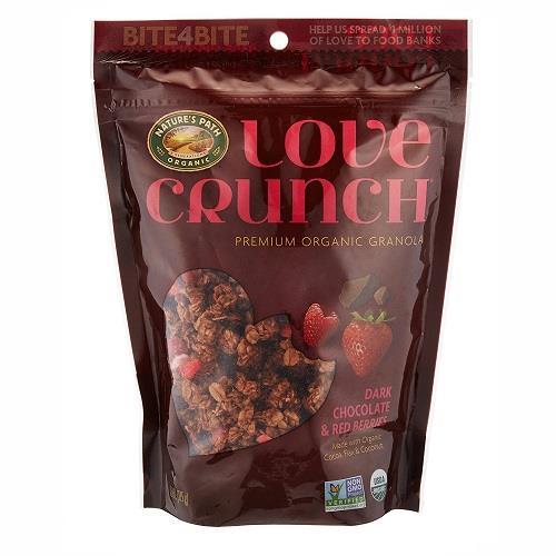 日本代購【LOVE CRUNCH】有機紅莓黑巧克力燕麥片