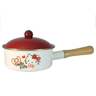 【HELLO KITTY 】琺瑯單柄鍋