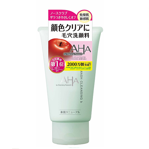 日本代購【Cleansing Research AHA】洗面乳 普通肌膚和油性肌膚適用
