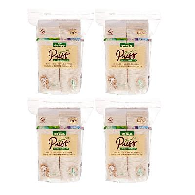 日本代購【Puff】有機化妝棉 120枚 ×4入