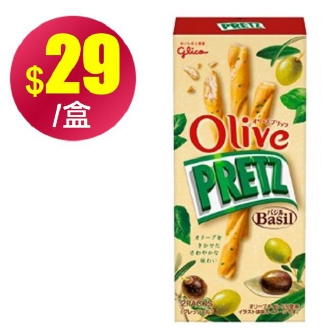 (即期優惠)【格力高】Olive羅勒風味百利滋棒(49g)
