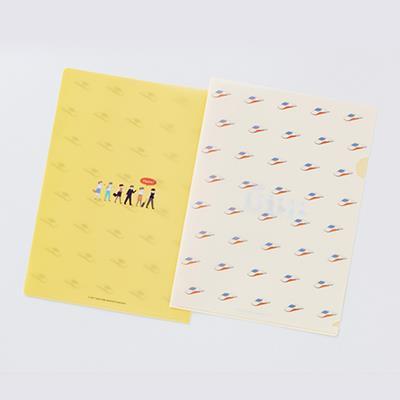 【台灣高鐵】通車10週年紀念商品-許匡匡插畫A4文件夾-列車(黃)
