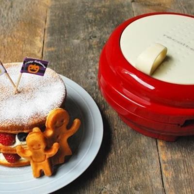 Recolte 日本麗克特 Smile Baker 微笑鬆餅機 甜心紅 RSM-1 早午餐首選
