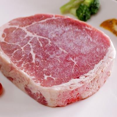 【冷凍店取-上野物產】美國安格斯黑牛厚切嫩肩菲力牛排(300g/片)