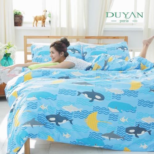 DUYAN《藍色夢游》單人二件式100%特級純棉床包組