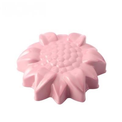 WOKY沃廚3.5吋 La Douceur 法式粉彩 花朵不沾蛋糕模 桃粉