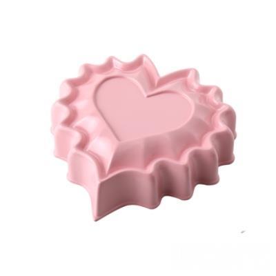 WOKY沃廚3.5吋 La Douceur 法式粉彩 心型不沾蛋糕模 桃粉