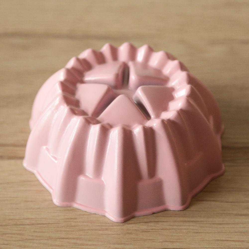 WOKY沃廚3.5吋 La Douceur 法式粉彩 星型不沾蛋糕模 桃粉