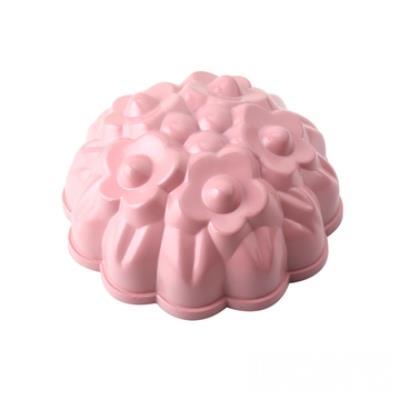WOKY沃廚3.5吋 La Douceur 法式粉彩 小碎花不沾蛋糕模 桃粉