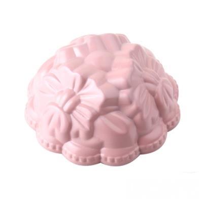 WOKY沃廚3.5吋 La Douceur 法式粉彩 小花朵朵不沾蛋糕模 桃粉