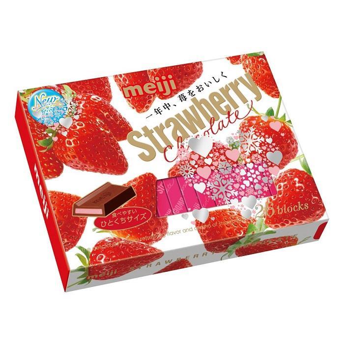 【明治】草莓巧克力26枚-盒裝