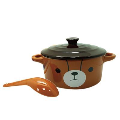 【英國熊】造型蓋碗附匙組