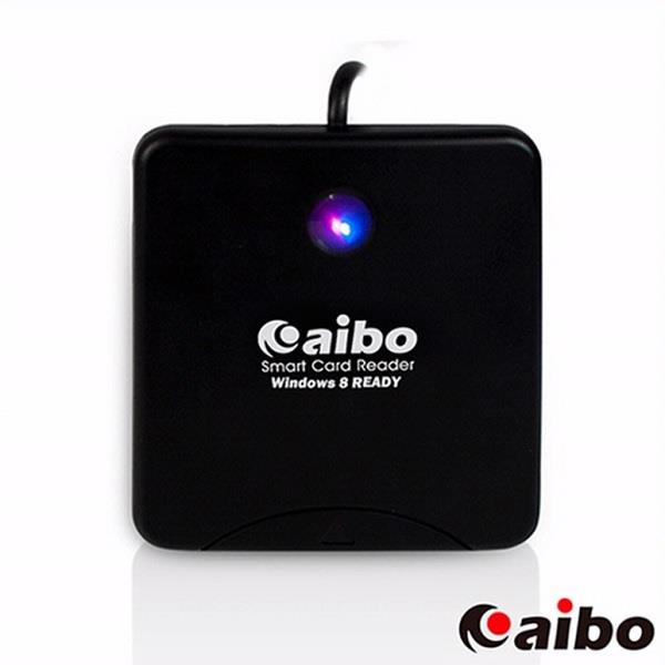 【aibo】AB17 黑色餅乾ATM晶片讀卡機