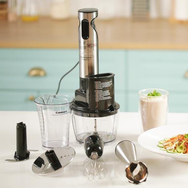(拿鐵免費送)Cuisinart美膳雅 全方位手持調理攪拌組/食物處理組 CSB-80TW 內含五款配件 可打蛋/切碎/攪拌/切絲/切片