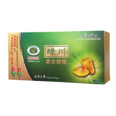 【綠川】黃金蜆錠( 412mg *100錠/盒)