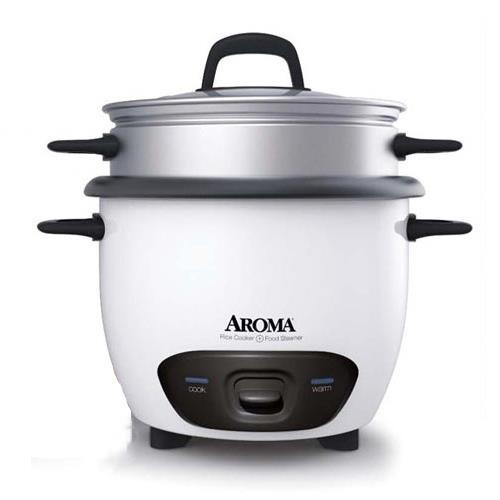 AROMA 美國蒸煮兩用美食料理鍋 炫白 ARC-747-1NG 低卡輕食料理