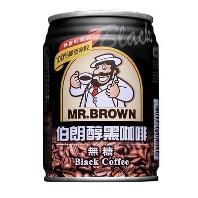 【伯朗】醇黑咖啡(240ml-6罐/組)