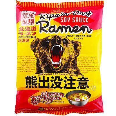 【藤原製麵】熊出沒注意醬油拉麵 (112g/包)