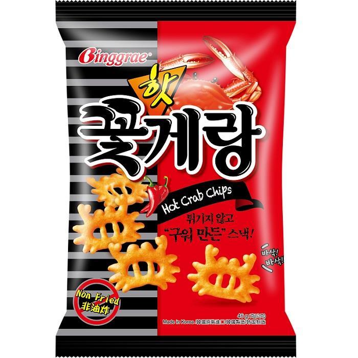 【Binggrae】 辣味蟹仔脆片 (46g/包)