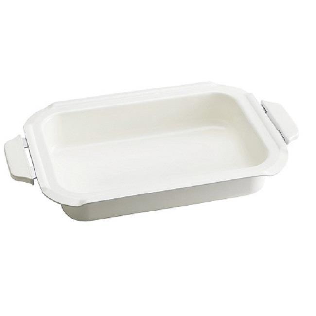 日本代購【BRUNO】多功能鑄鐵電烤鍋 專用白色深鍋
