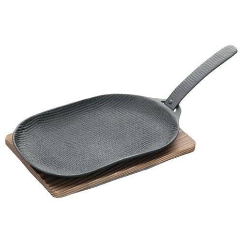 日本代購【及源鑄造】鑄鐵平底燒烤盤-烤魚盤(小型)