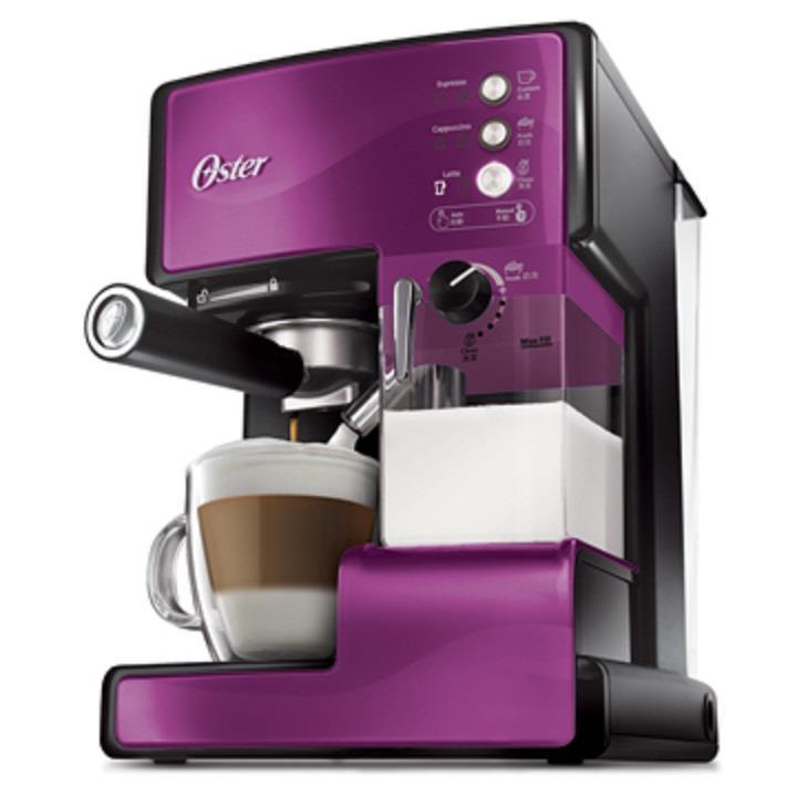 Oster 美國奶泡大師義式咖啡機 PRO升級版 晶鑽紫 BVSTEM6602P