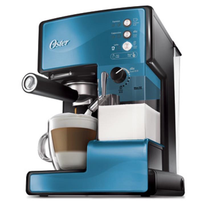 Oster 美國奶泡大師義式咖啡機 PRO升級版 星礦藍 BVSTEM6602B