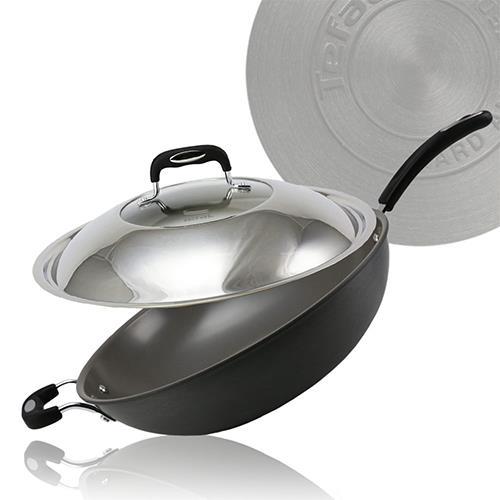 Tefal法國特福多層陶瓷32CM單柄炒鍋+蓋(C7699414)