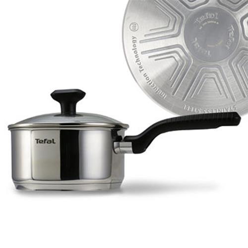 Tefal法國特福晶彩不鏽鋼系列18CM單柄湯鍋 (加蓋)C9732324