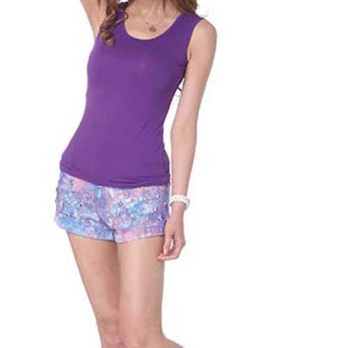舒適涼感女款百搭背心 紫