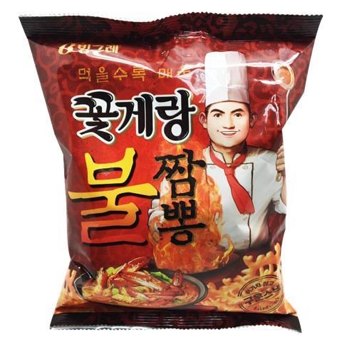 【韓國Binggrae】螃蟹仔脆片-炒碼辣味(70g/包)
