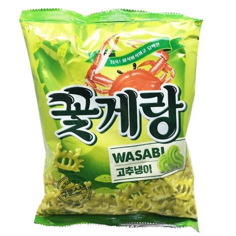 【韓國Binggrae】螃蟹仔脆片-芥末味(70g/包)