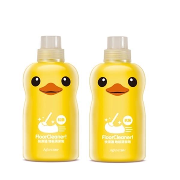 【快潔適】小黃鴨抗菌地板清潔劑 (1000ml*2瓶)