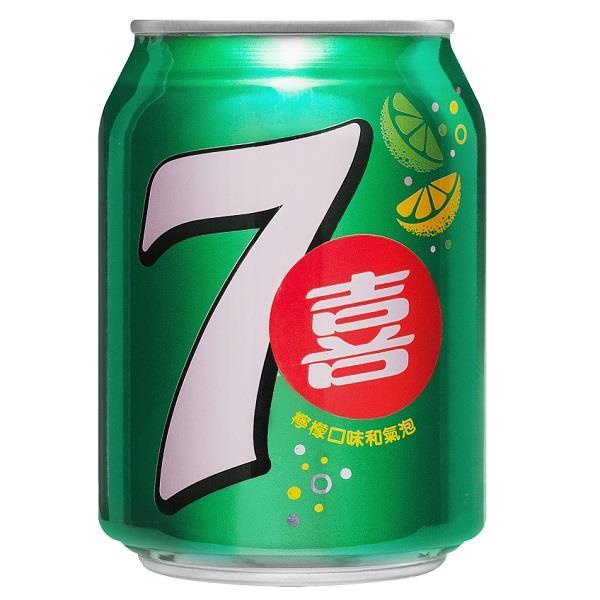 【百事】七喜汽水(250ml-24入/箱)