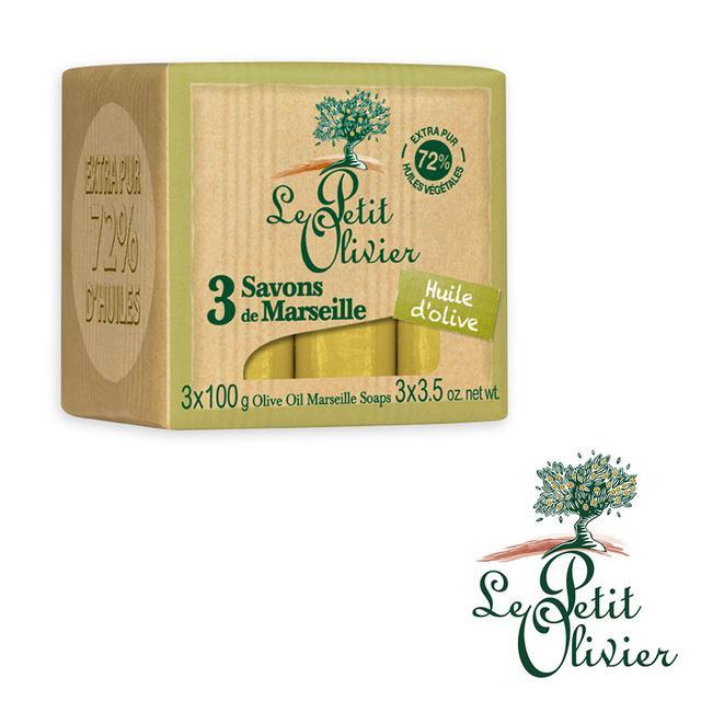 【法國小橄欖樹Le Petit Olivier】橄欖油馬賽皂 (100g*3)
