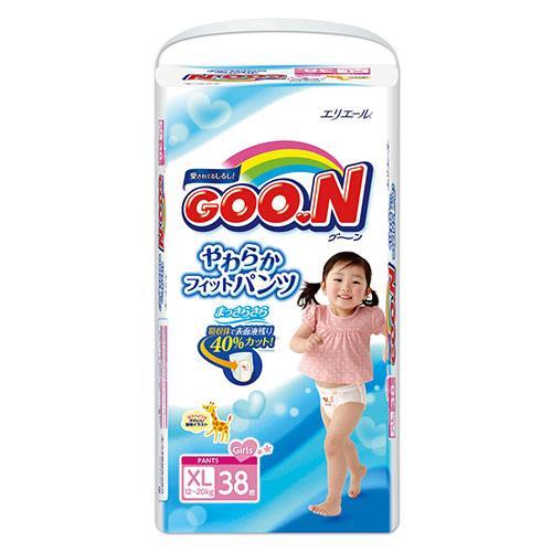 【日本大王GOO.N】褲型紙尿褲(女)-日本境內版 XL(38片x3包/箱)