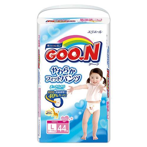 【日本大王GOO.N】褲型紙尿褲(女)-日本境內版 L(44片x3包/箱)
