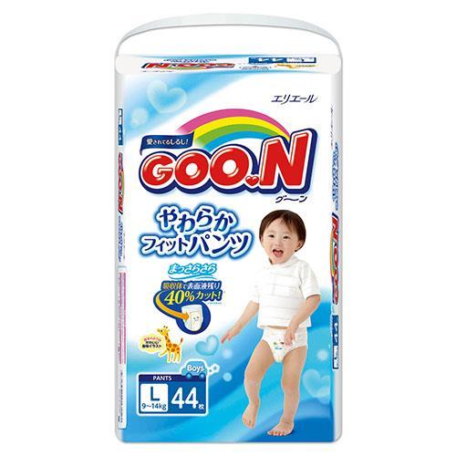 【日本大王GOO.N】褲型紙尿褲(男)-日本境內版 L(44片x3包/箱)