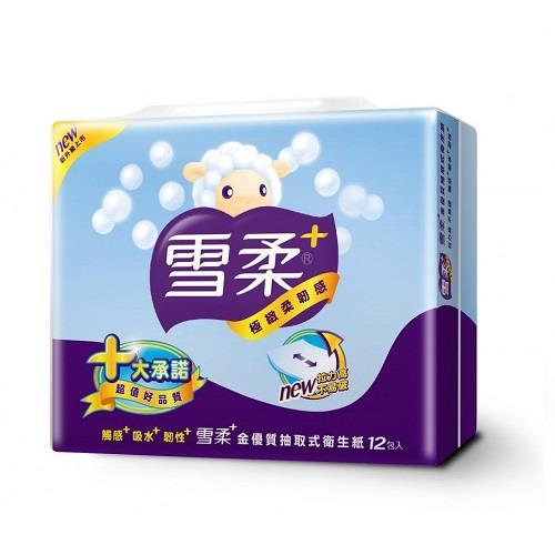 【雪柔】抽取式衛生紙(100抽x12包x6串)