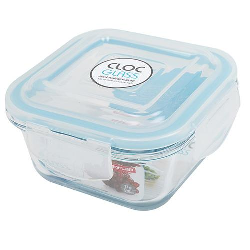 NEOFLAM 韓國 CLOC系列 320ml耐熱玻璃保鮮盒 正方形