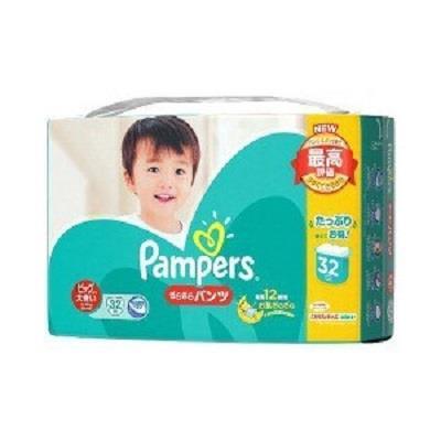 【幫寶適】日本境內綠色巧虎幫寶適紙尿布褲型增量版 (XXL 15-28kg) 32片*3包/箱